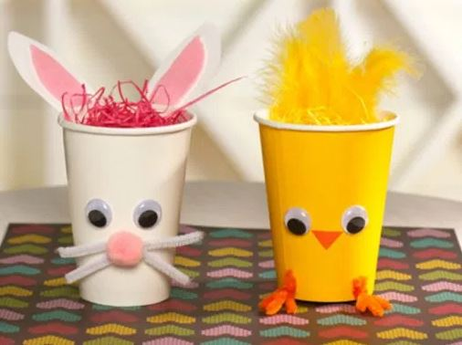 image of easter craft cups