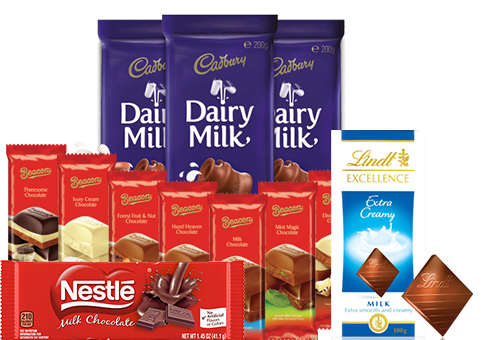 image of all chocolates reviewed this Easter
