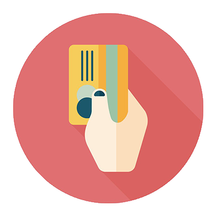 image of a credit card in hand