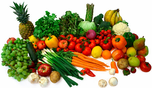 image of healthy fruits and vegetables