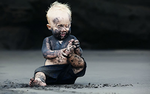 image of a dirty child