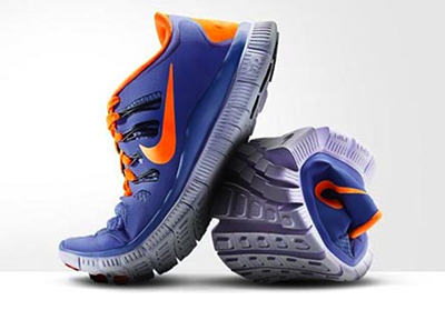 image of a nike running shoes in a strange angle