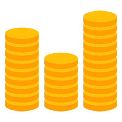 image of coin stacks