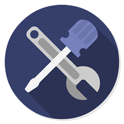 image of a spanner and screwdriver