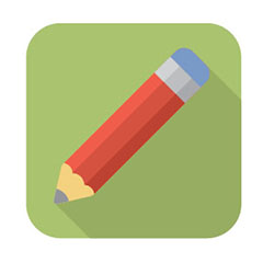 image of a pencil writing