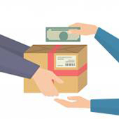 image of paying cash on delivery