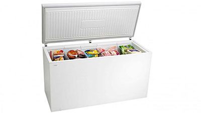 image of a chest freezer