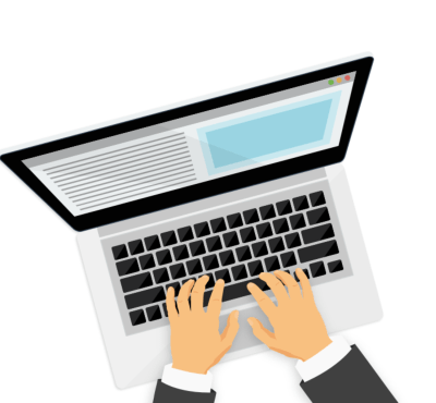 image of writing on a laptop