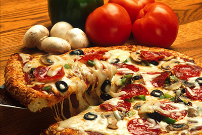 image of a delicious pizza