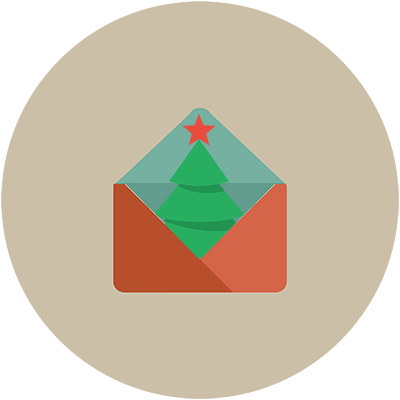 image of a christmas tree email