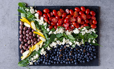 image of South African flag in food