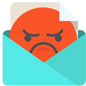 image of an angry email recipient