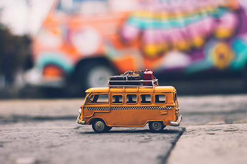 image of a travel bus