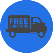 image of a free shipping truck