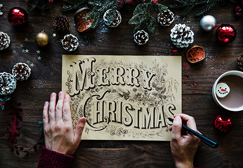 image of a merry christmas board