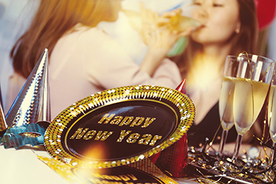 image of the new year party
