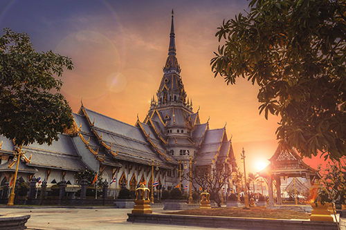 image of a thai building