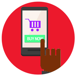 image of a shopping app
