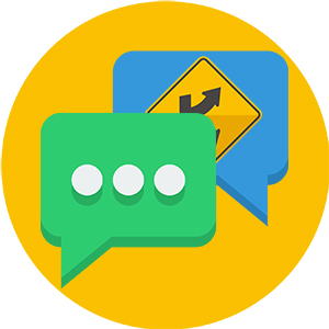 image of a live chat icon